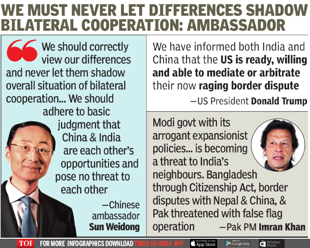 India China News: The envoy approaches and says that India and China do not pose a mutual threat | India News