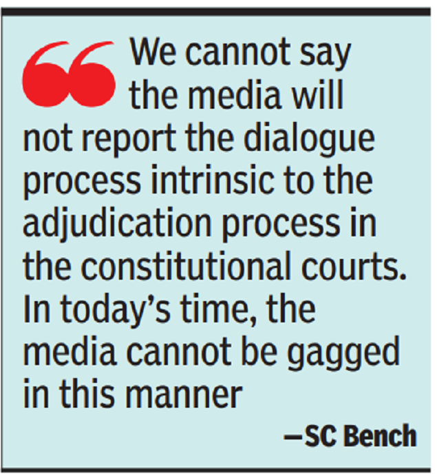 Supreme Court rejects the Electoral Commission's request to limit judicial media reporting | India News