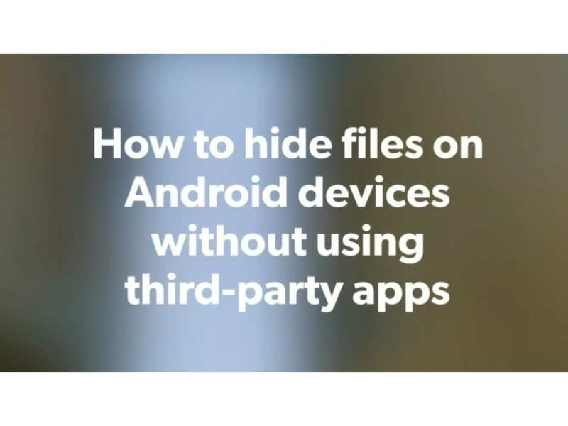 hide folders in android: How to hide files and folders on