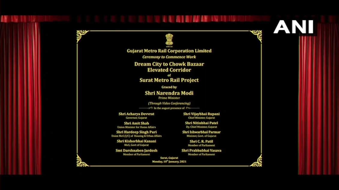 PM Narendra Modi presents Bhoomi Poojan from Ahmedabad, Surat Metro: Highlights |  India News