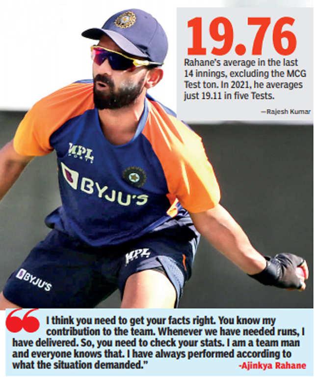 Ajinkya Rahane: India vs England: 'Team man' Ajinkya Rahane bats for himself | Cricket News - Times of India