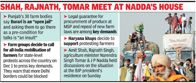 "Farmers reject Center's offer of ""conditional"" talks 