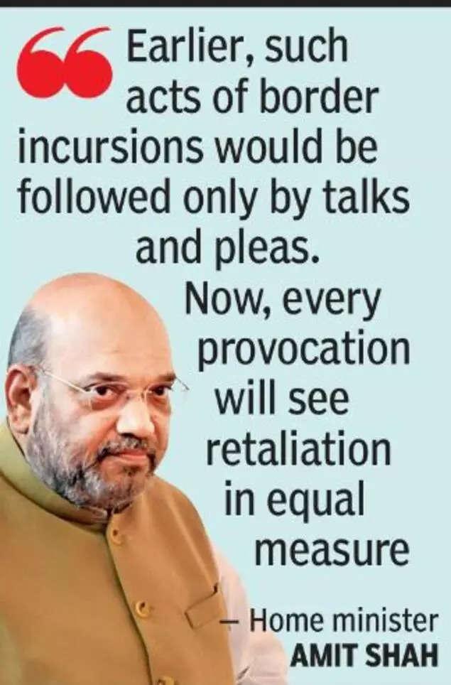 Shah warns enemies against 'flirting' with India's borders