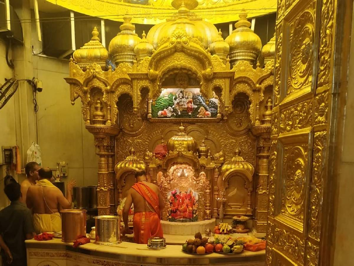 Image result for siddhivinayak temple golden roof