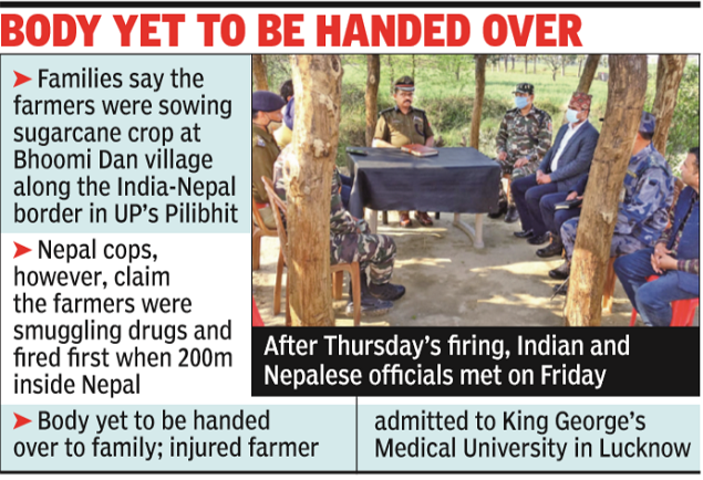 Indian farmer shot to death by Nepalese police | India News