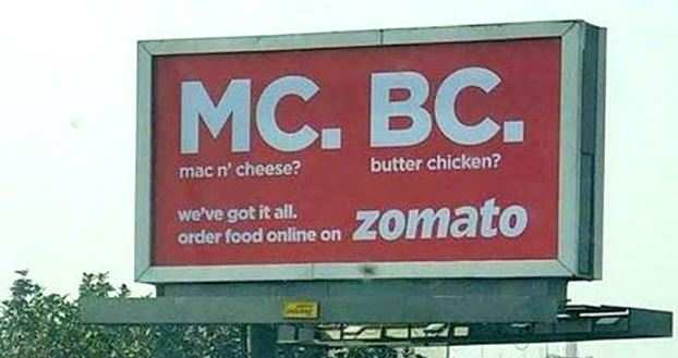 Zomato pulls down ad hoarding after public outcry