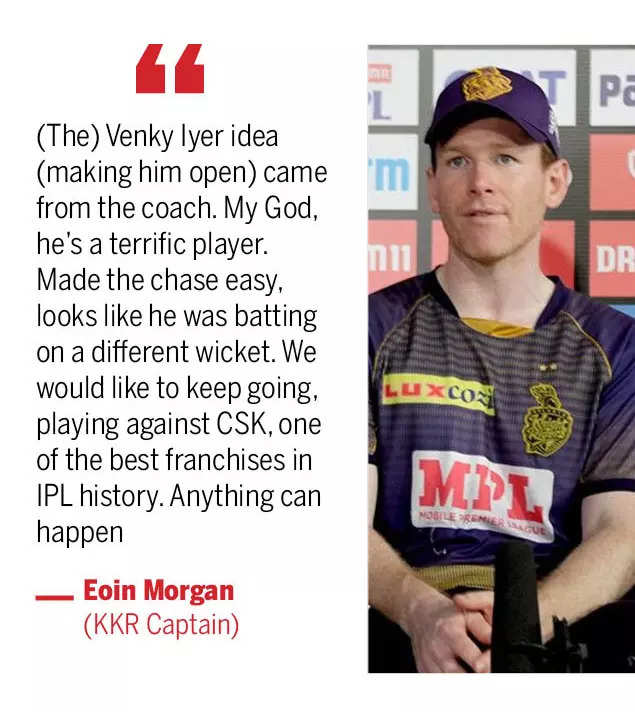 KKR vs DC 2021: Who said what after KKR beat DC to reach final | Cricket News - Times of India