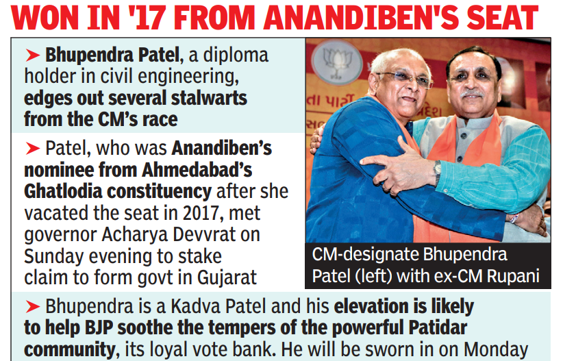 BJP springs a surprise in Gujarat, picks first-time MLA, a Patel, as new CM