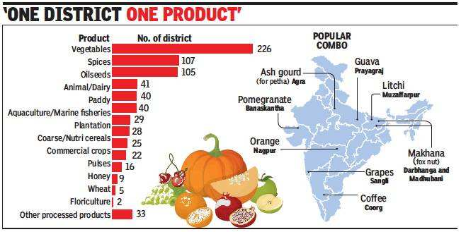 In an attempt to boost the food industry, the government maps products exclusive to the districts | India News