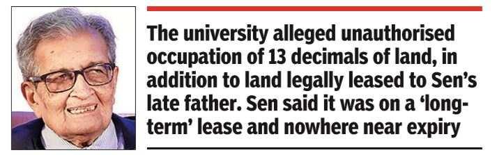 Amartya Sen on Vishva-Bharati's List of 'Illegal Plot Holders' |  India News