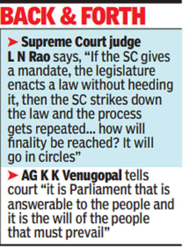 Supreme Court and government now oppose court reforms   India News