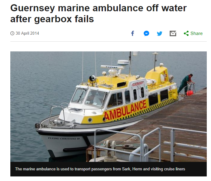FALSE ALERT: Guernsey Marine Ambulance posed as an ambulance launched by the Maharashtra government
