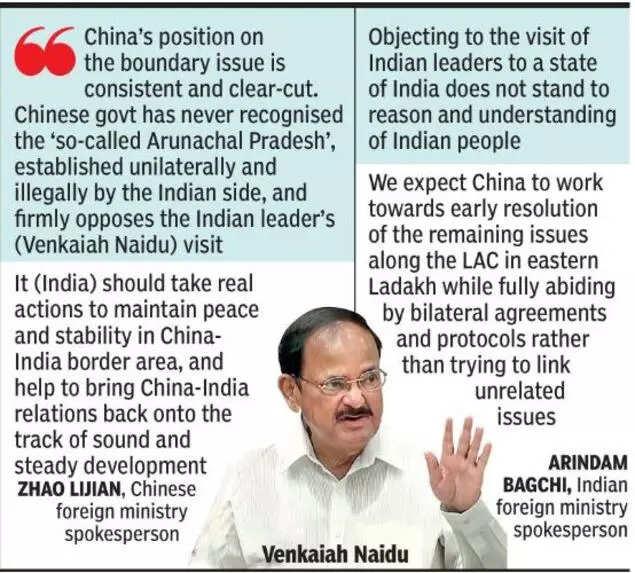 After Ladakh, India-China war of words on Naidu's Arunachal trip