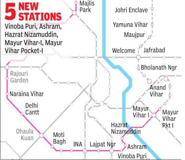 delhi metro map download hindi