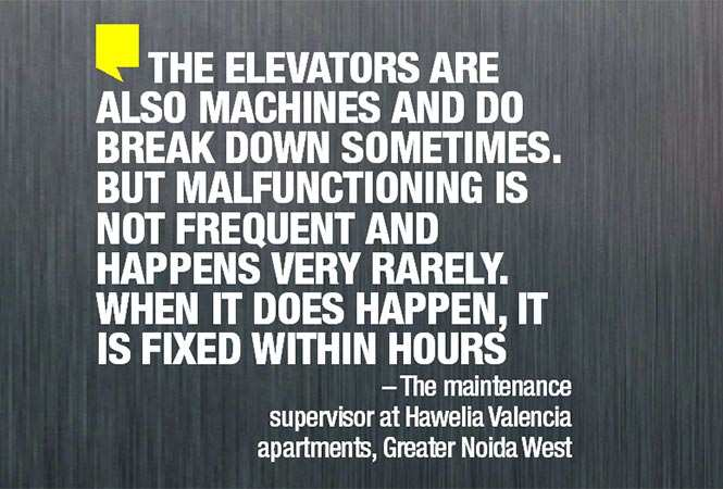 71066674 - Getting late for work, panic attacks, developing a phobia of lifts: The nightmares Noidawallahs face due to faulty lifts | Noida News