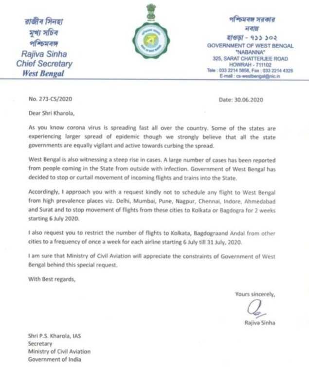 Kolkata to have no flights to & from Delhi, Mumbai, Pune, Nagpur, Chennai, Ahmedabad from July 6