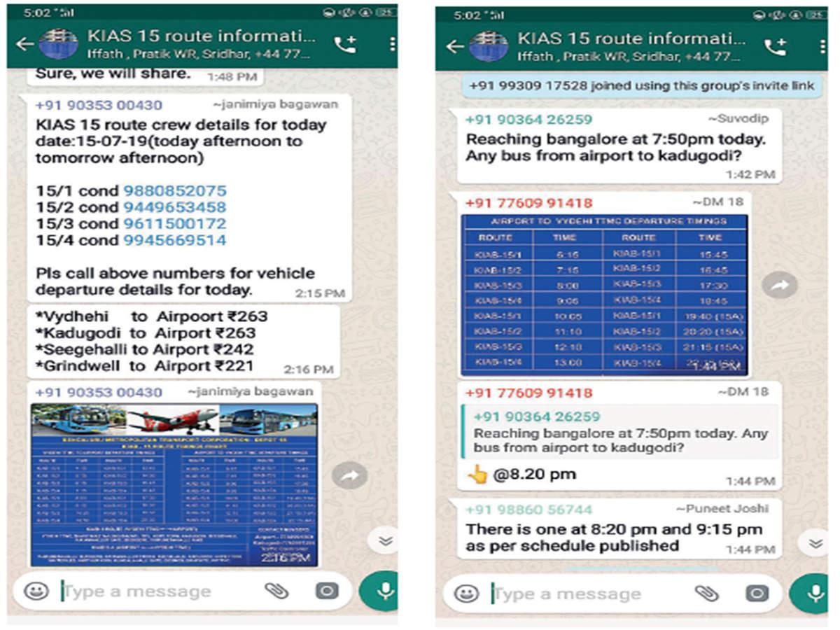WhatsApp your way to Bengaluru airport