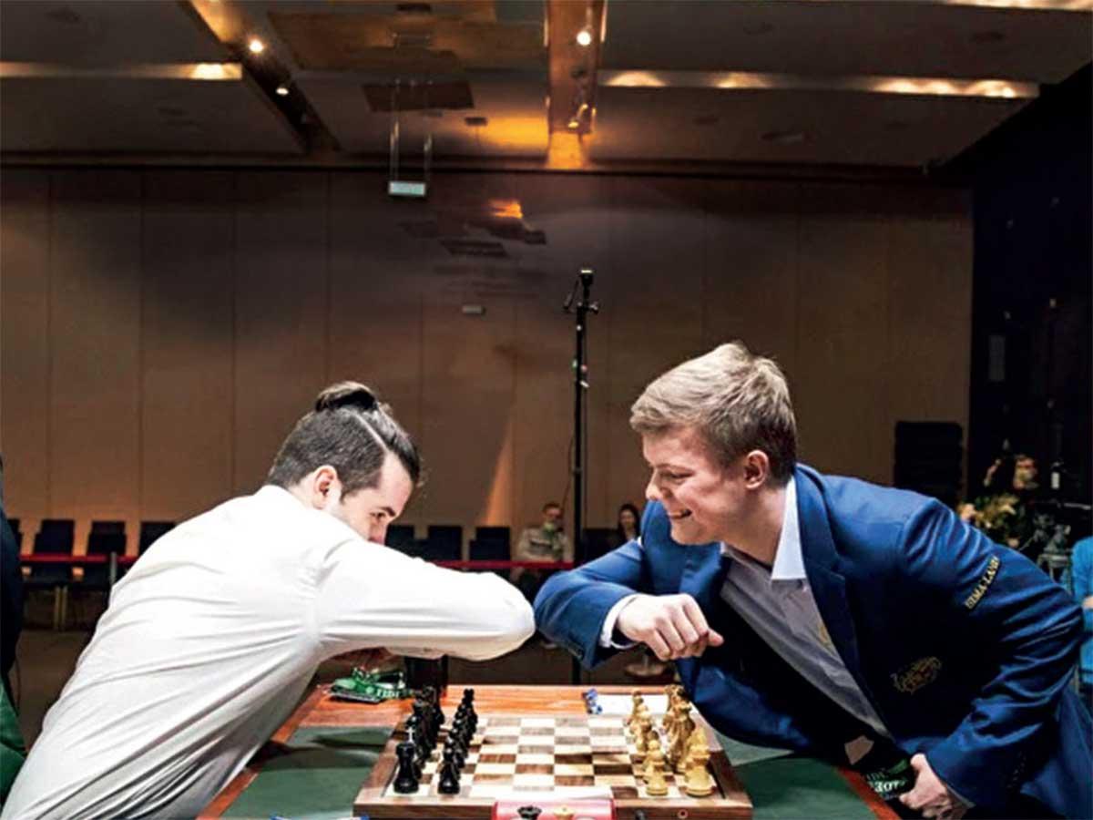Intense Chess Elbow Shakes