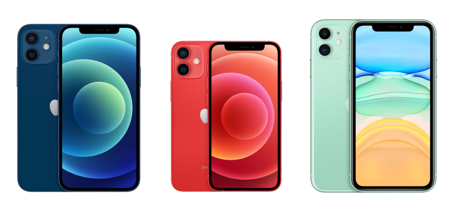 Apple iPhone 12 vs iPhone 12 Mini vs iPhone 11 vs iPhone ...