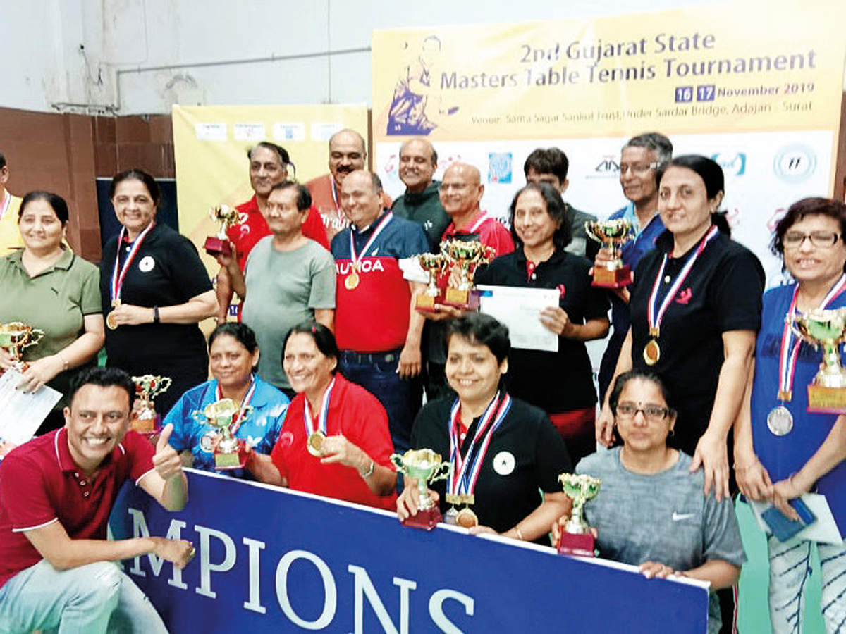 2nd Gujarat State Masters Table Tennis Tournament: A hattrick for Vaghela - Ahmedabad Mirror