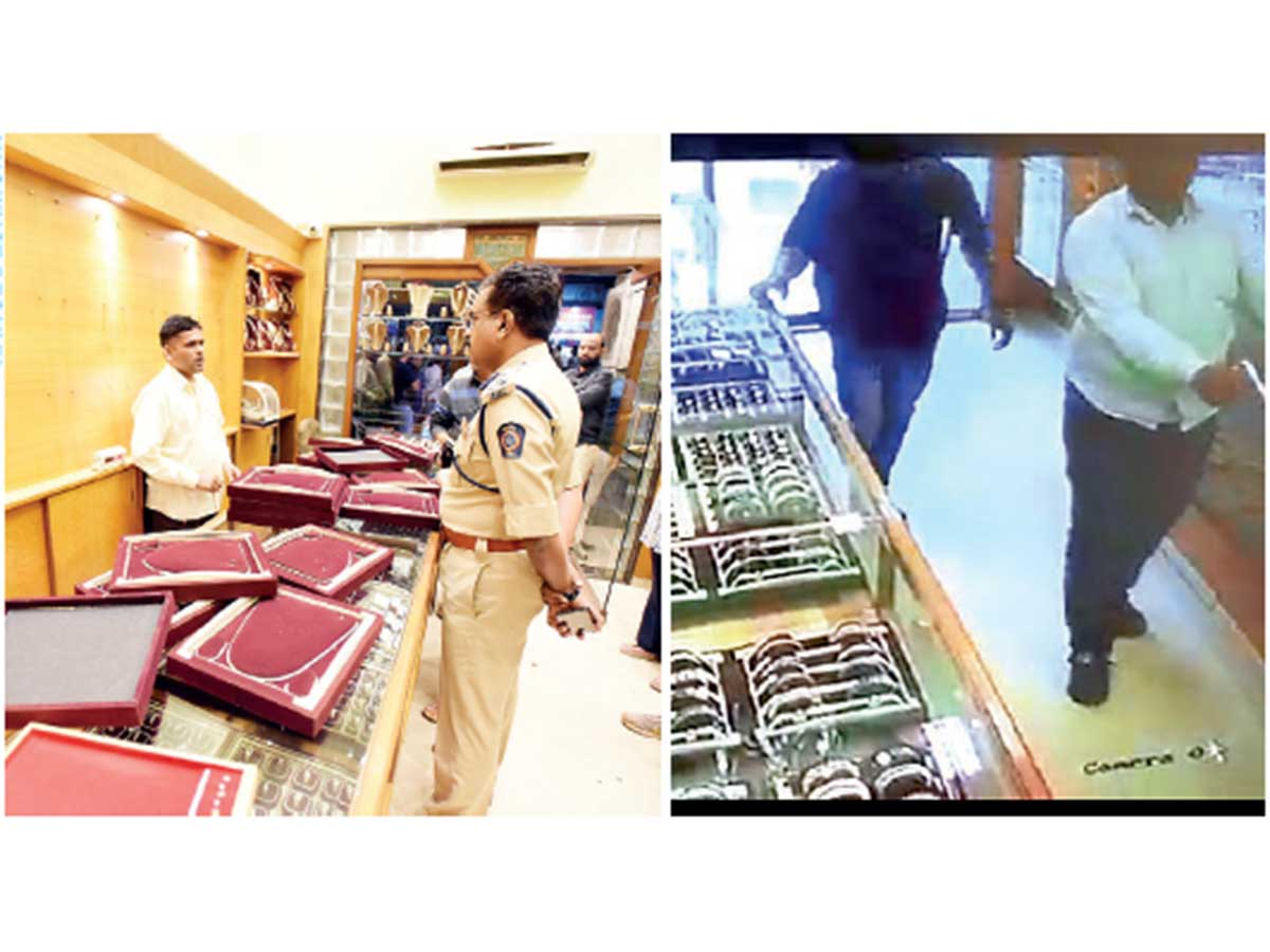 Image result for Robbers loot jewellery shop at gunpoint in broad daylight