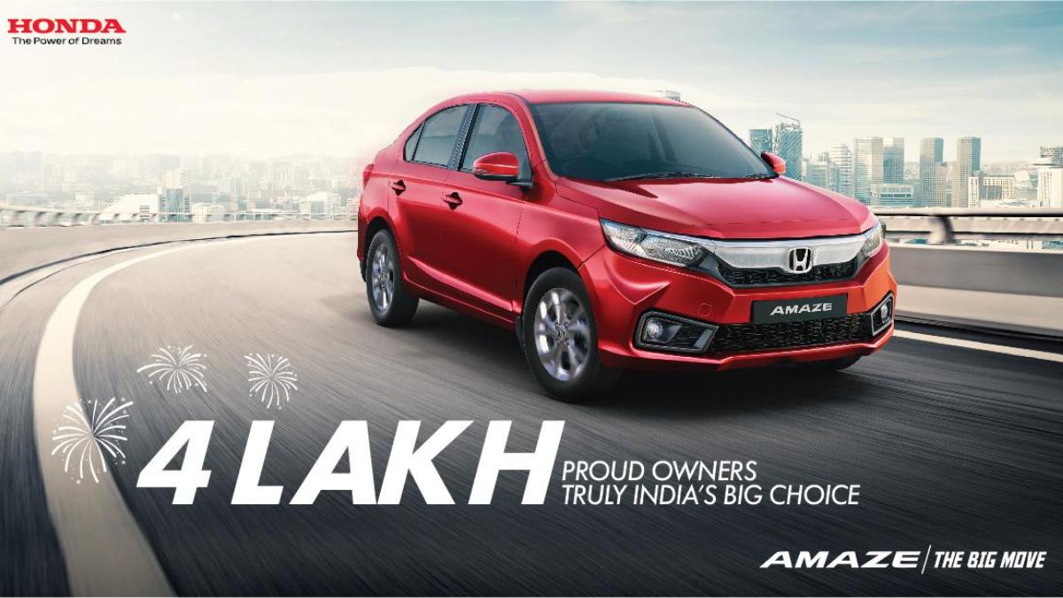 Honda Amaze: Honda Amaze gets 4 lakh of sales, demand for auto increases