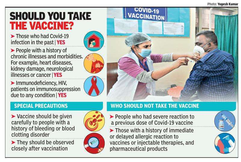 Covid vax for chronically ill: What you must do | Delhi News - Times of  India