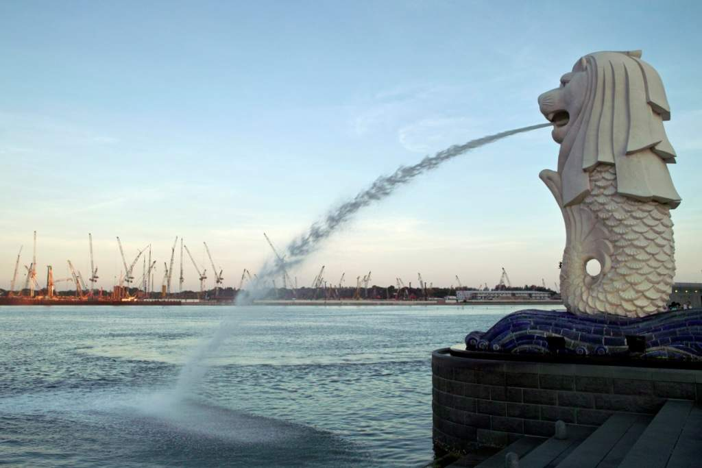 Singapore's Merlion is at the centre of it all
