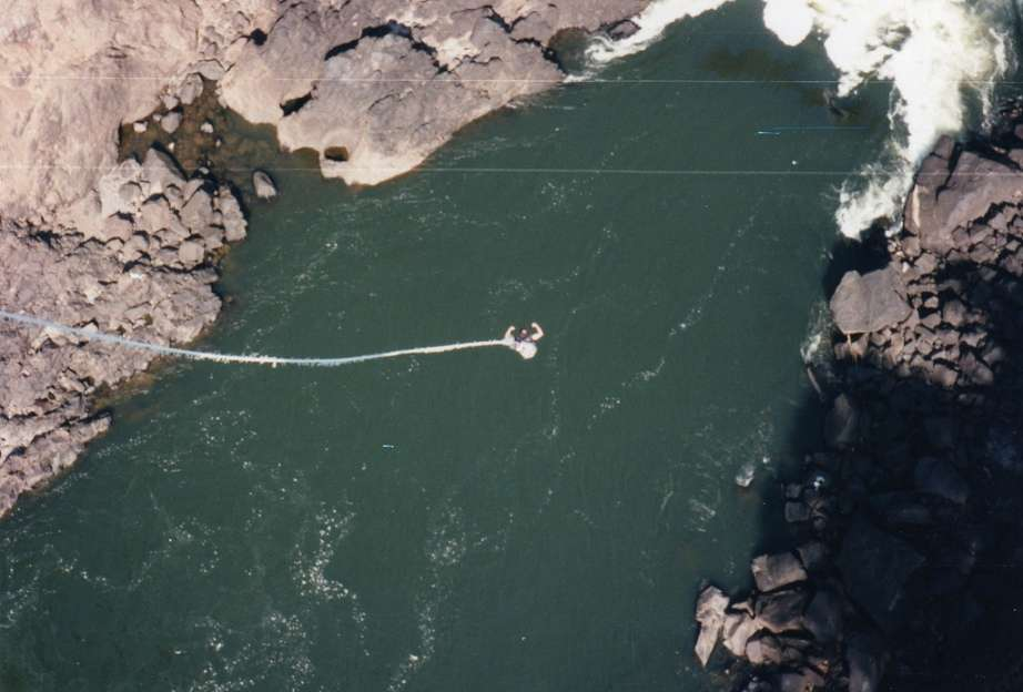 Bungee Jumping Over The Victoria Falls