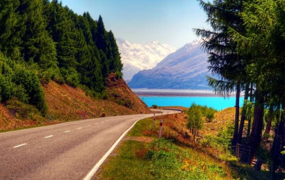 Cycling in New Zealand's South Island