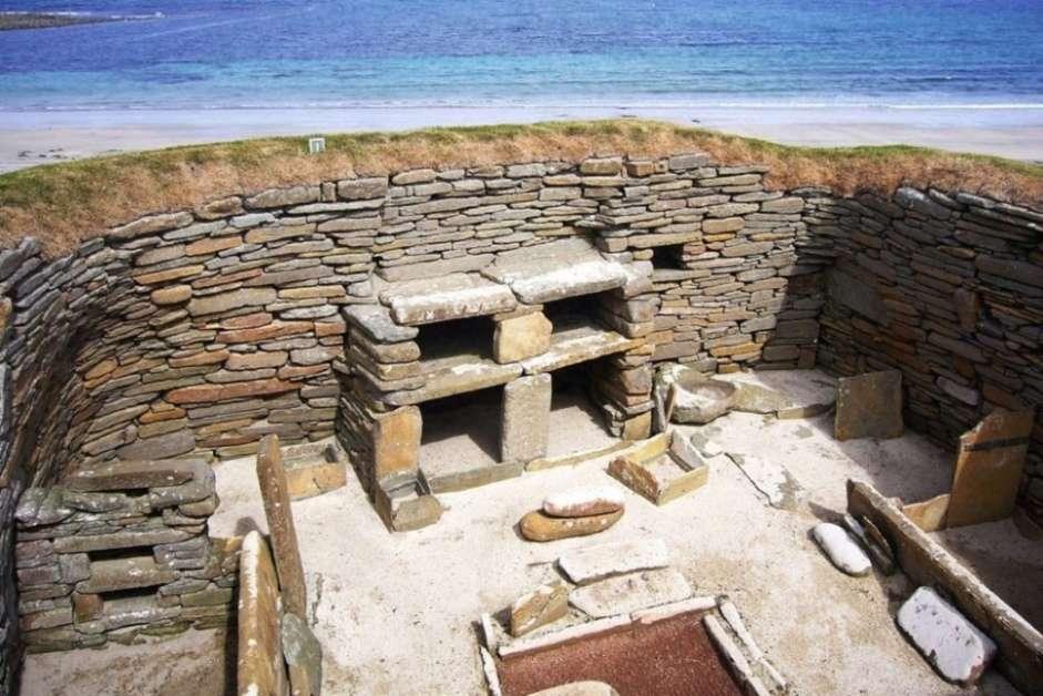 Skara Brae prehistoric village in Scotland