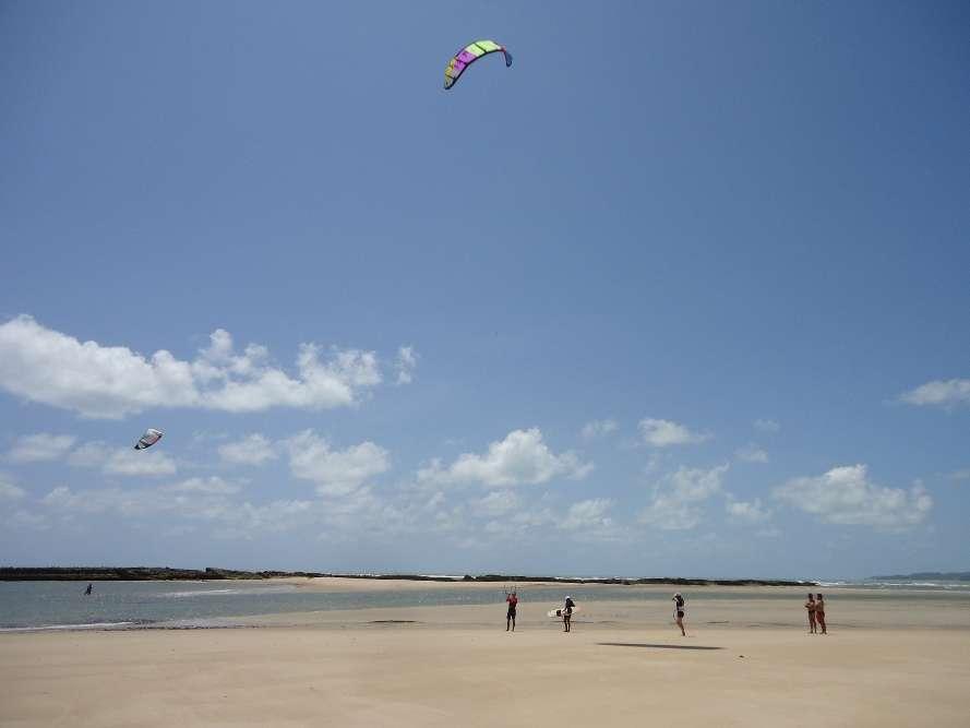 Kitesurfing in Barra do Cunhau