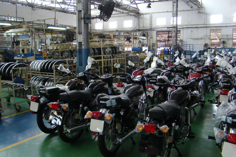 The Royal Enfield factory