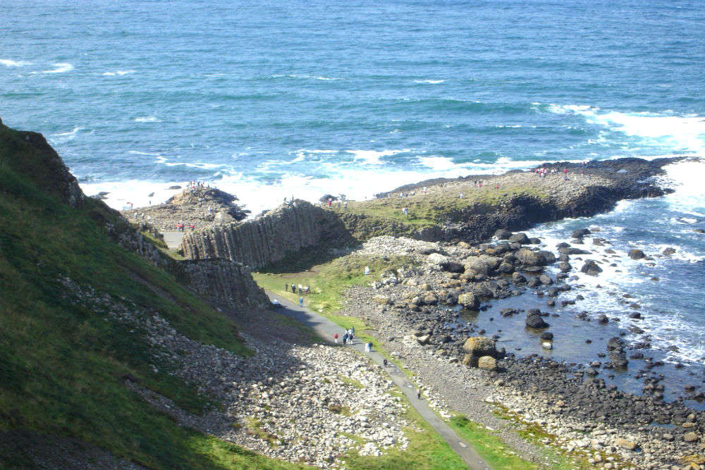 The amazing rock formation of Giant's Causeway in Ireland