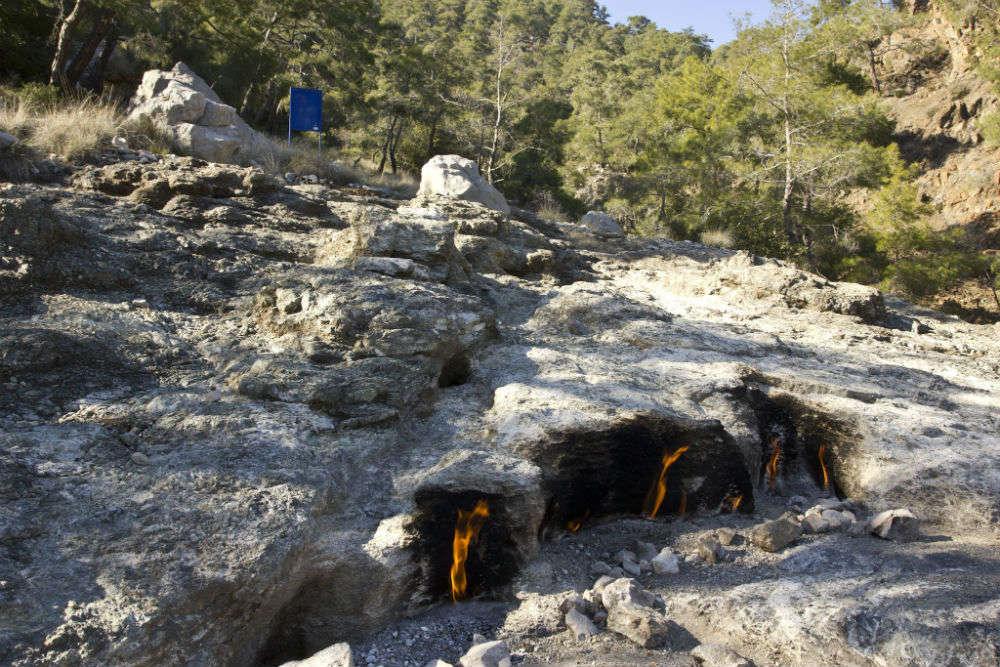Flaming Rocks of Chimaera