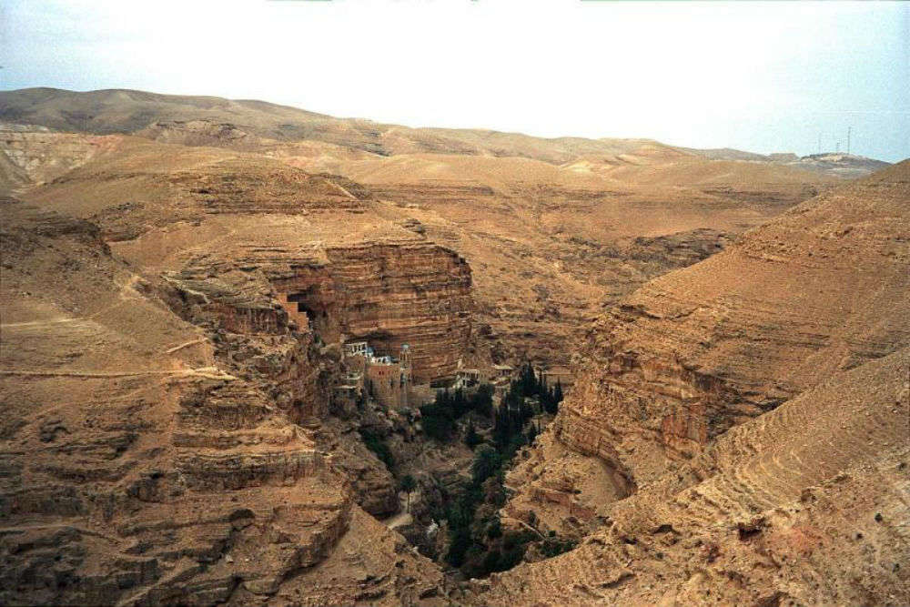The beautiful monastery of Wadi Qelt