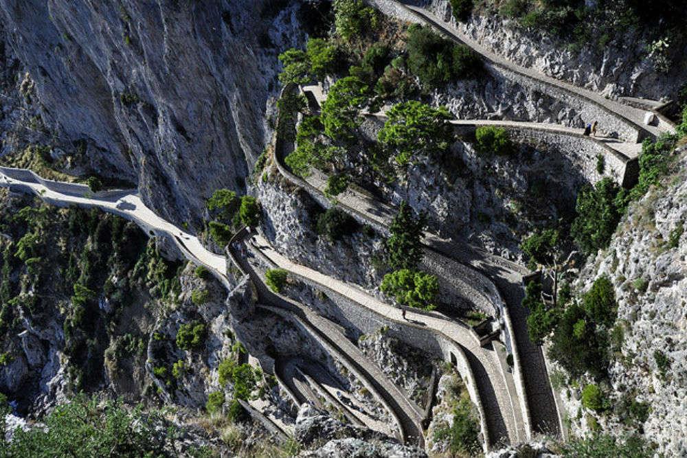 Via Krupp of the island of Capri