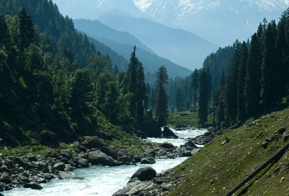 Casting for trout in Kashmir