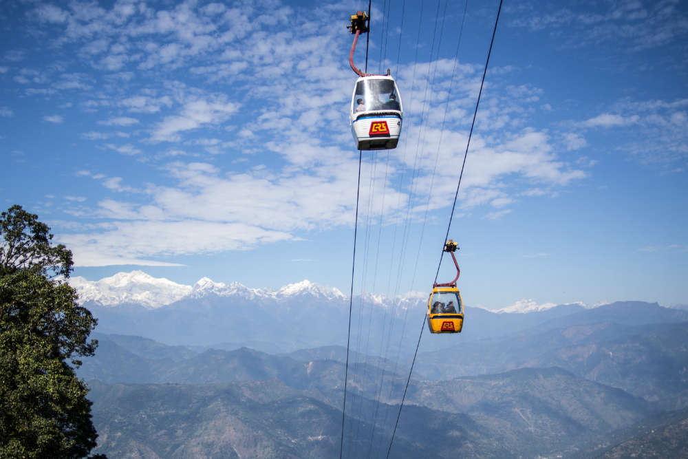 Take in the views from the Darjeeling ropeway
