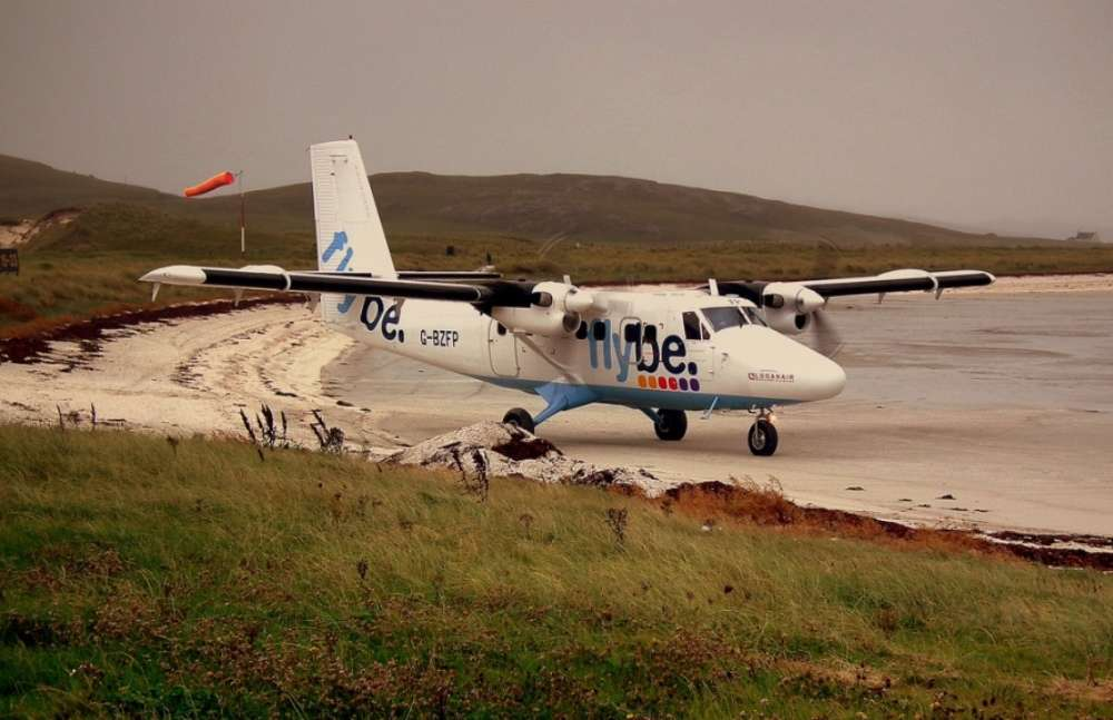 Barra Airport—the world's only beach airport