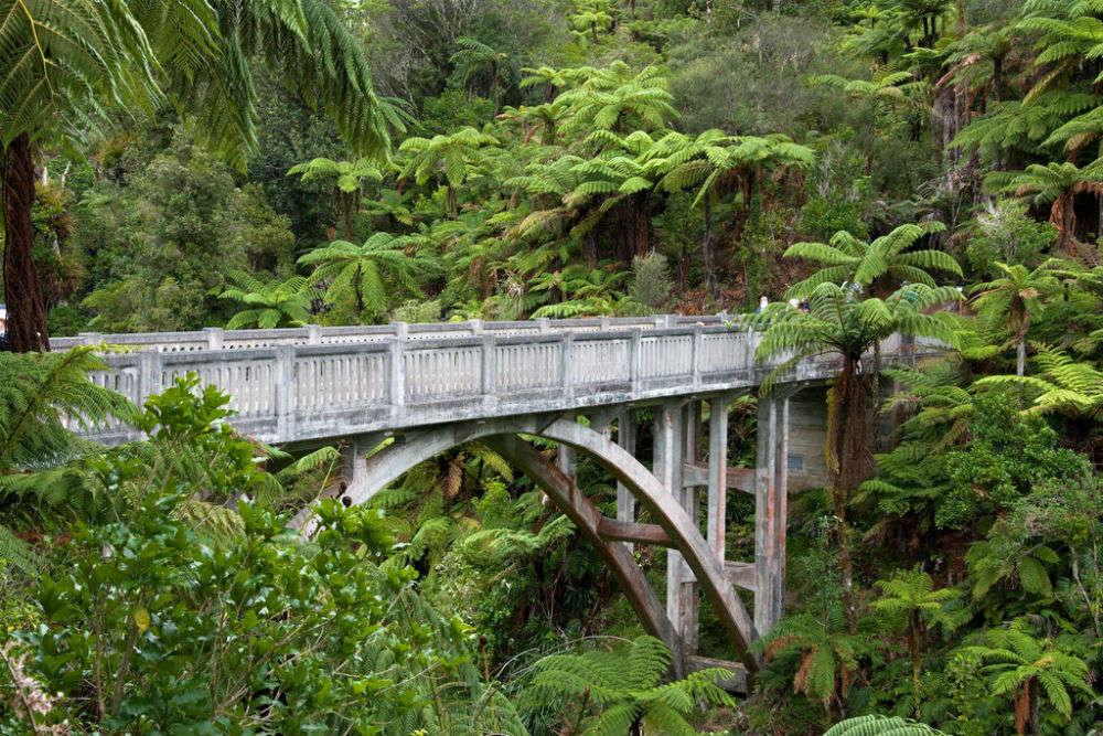 Bridge to Nowhere in Whanganui National Park