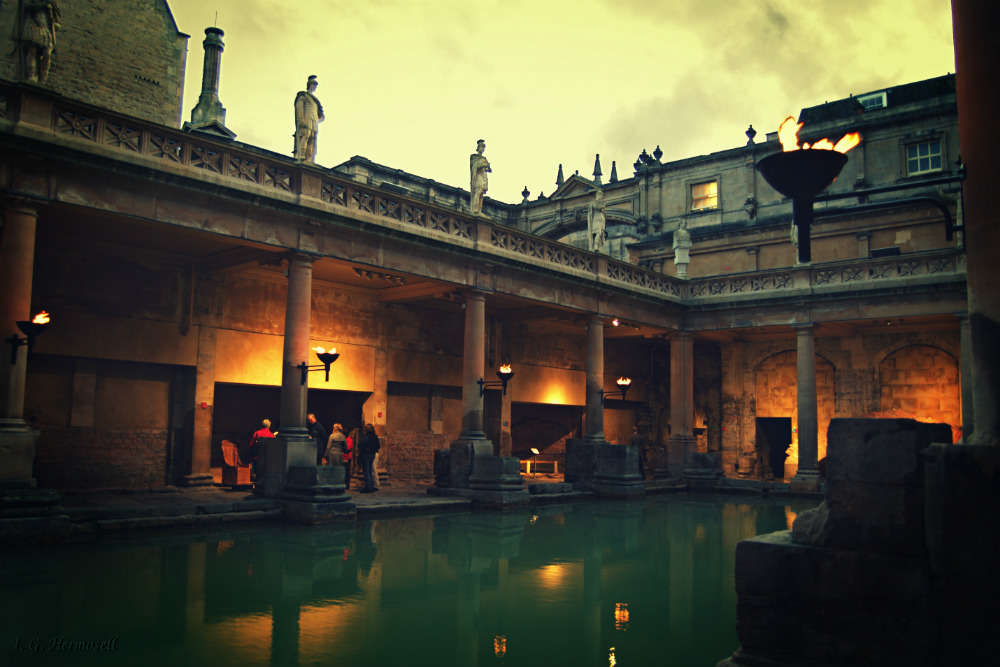 Get washed at the Roman baths