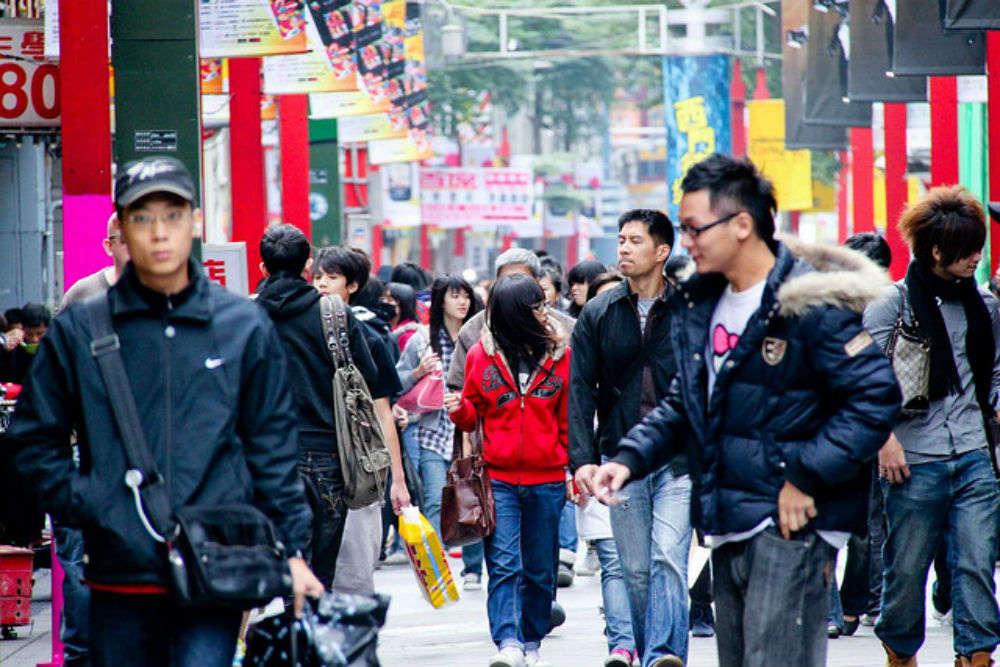 Street shopping in Taipei