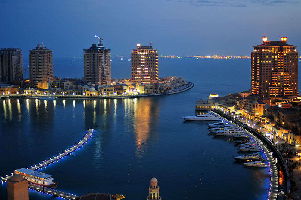 The luxurious artificial island of Pearl-Qatar