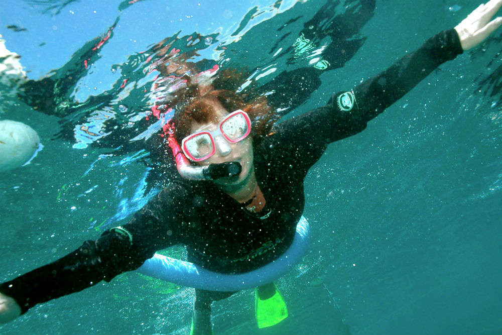 Snorkeling around and under Lizard Island