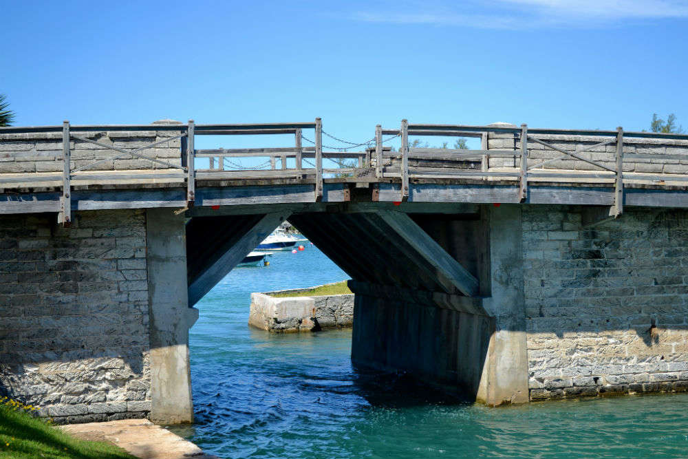 Somerset Bridge, Bermuda—the world's smallest drawbridge