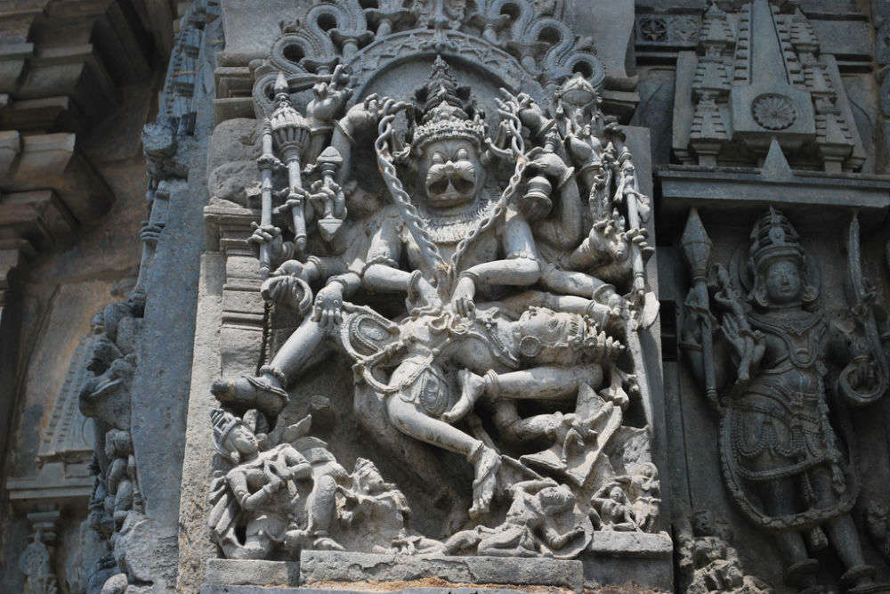 The Halebidu Temple sculptures