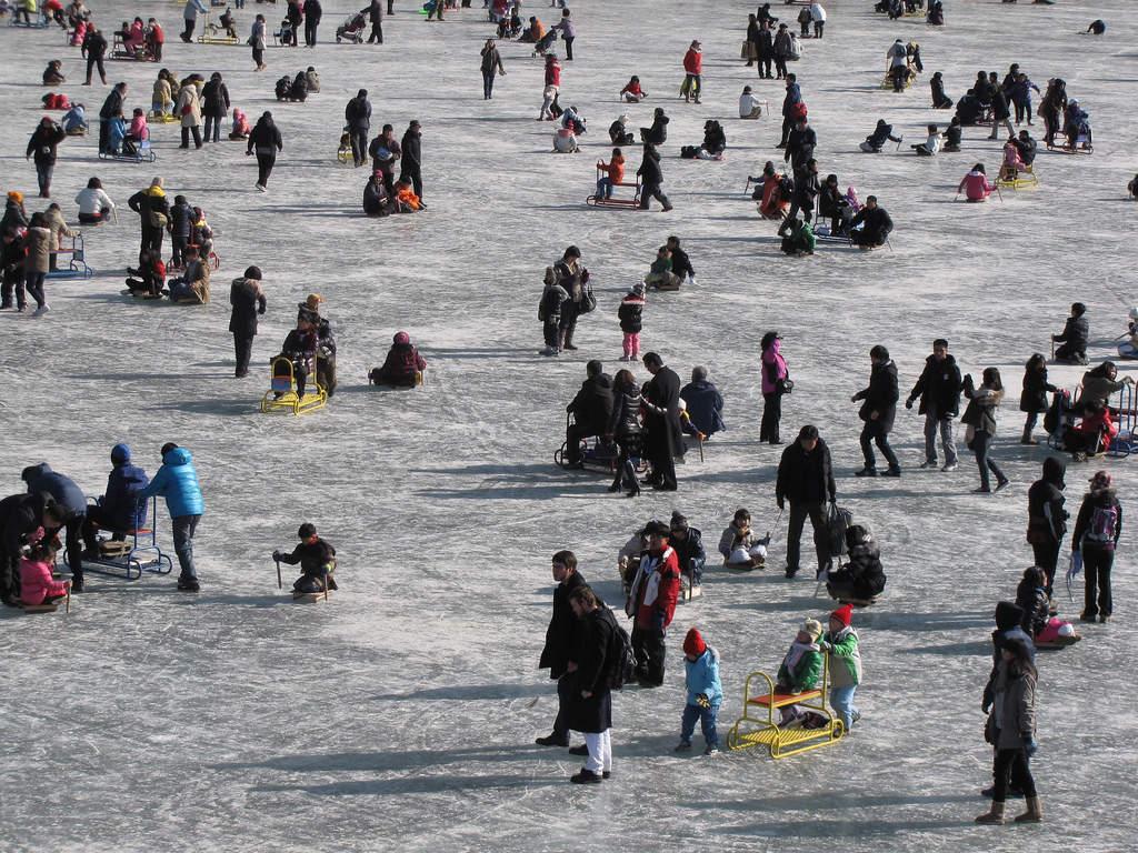Ice fishing in South Korea's Hwacheon Sancheoneo Ice festival