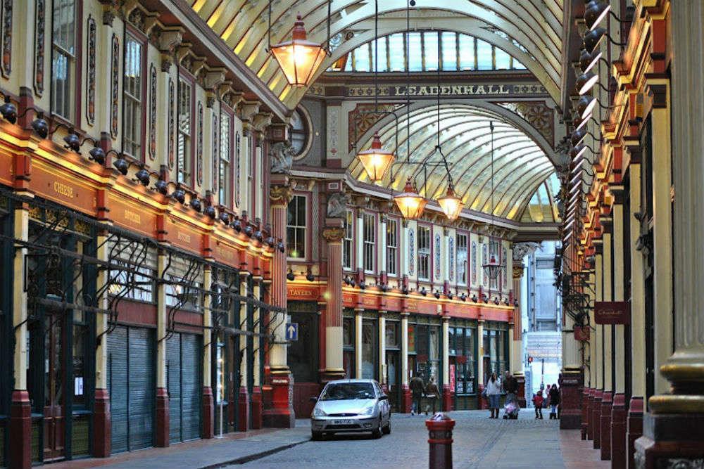 Leadenhall Market in Harry Potter