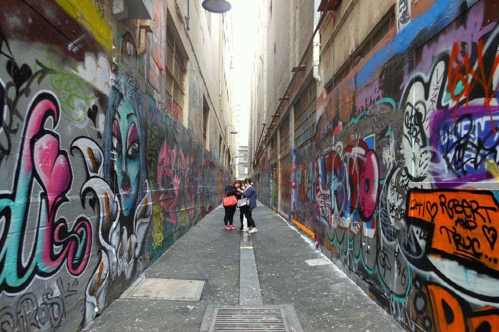 Hidden lanes and alleyways in Melbourne